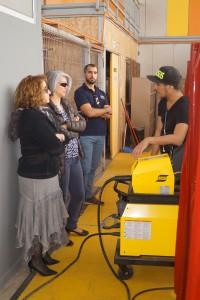 Visita al laboratorio de TNS en Fabricación y Montaje de Estructuras Metálicas