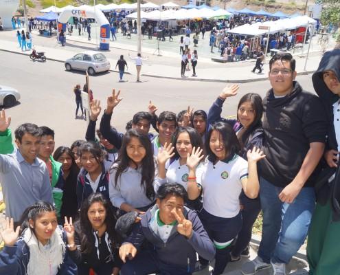 13. Estudiantes del Liceo Agrícola José Abelardo Nuñez también visitaron la feria