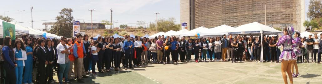 14. La XI versión de la Feria de las Competencias conto con más de 700 estudiantes de la educacion media quienes recorrieron los mas de 30 stands informativos