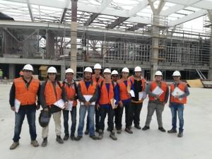 Estudiantes de Fabricación y Montaje de Estructuras Metálicas visitaron la construcción del Mall Plaza Arica